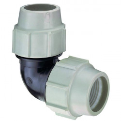 Plasson BP-35468838 ø 25 mm, one compression fitting, 90° bend Compression fitting