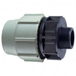 "Plasson BP-35469400 ø 25 mm 3/4"" thread, one male compression fitting. Compression fitting"