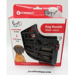 Muselière SILAS XXL noir 43 cm 51-70 cm. pour chien. dressage chien Flamingo FL-519658