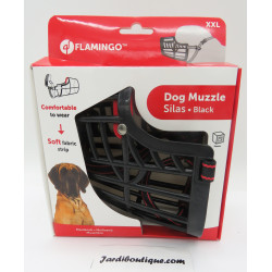 Flamingo FL-519658 Muzzle SILAS XXL black 43 cm 51-70 cm. for dogs. Muselière