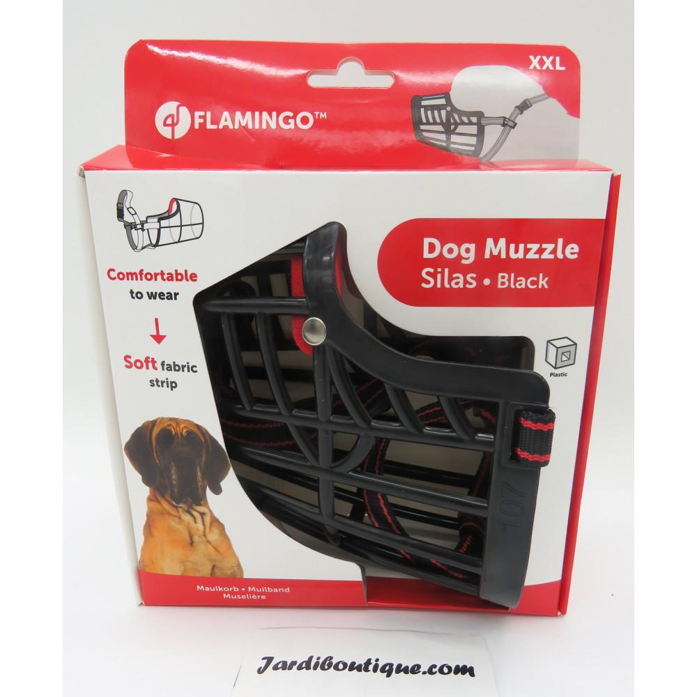 Flamingo FL-519658 Muzzle SILAS XXL black 43 cm 51-70 cm. for dogs. dog training
