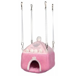 "Trixie TR-62972 Cozy castle ""My Princess"" pink. for rodents. Beds, hammocks, nesters"