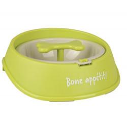 Gamelle OSTO anti -glouton vert . ø 12.5 CM 400 ML pour chien. Gamelle, écuelle Flamingo FL-519736