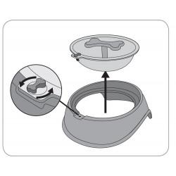 Flamingo FL-519737 OSTO anti-food-eating bowl black. ø 15.5 CM 650 ML for dogs. Bowl, bowl, bowl
