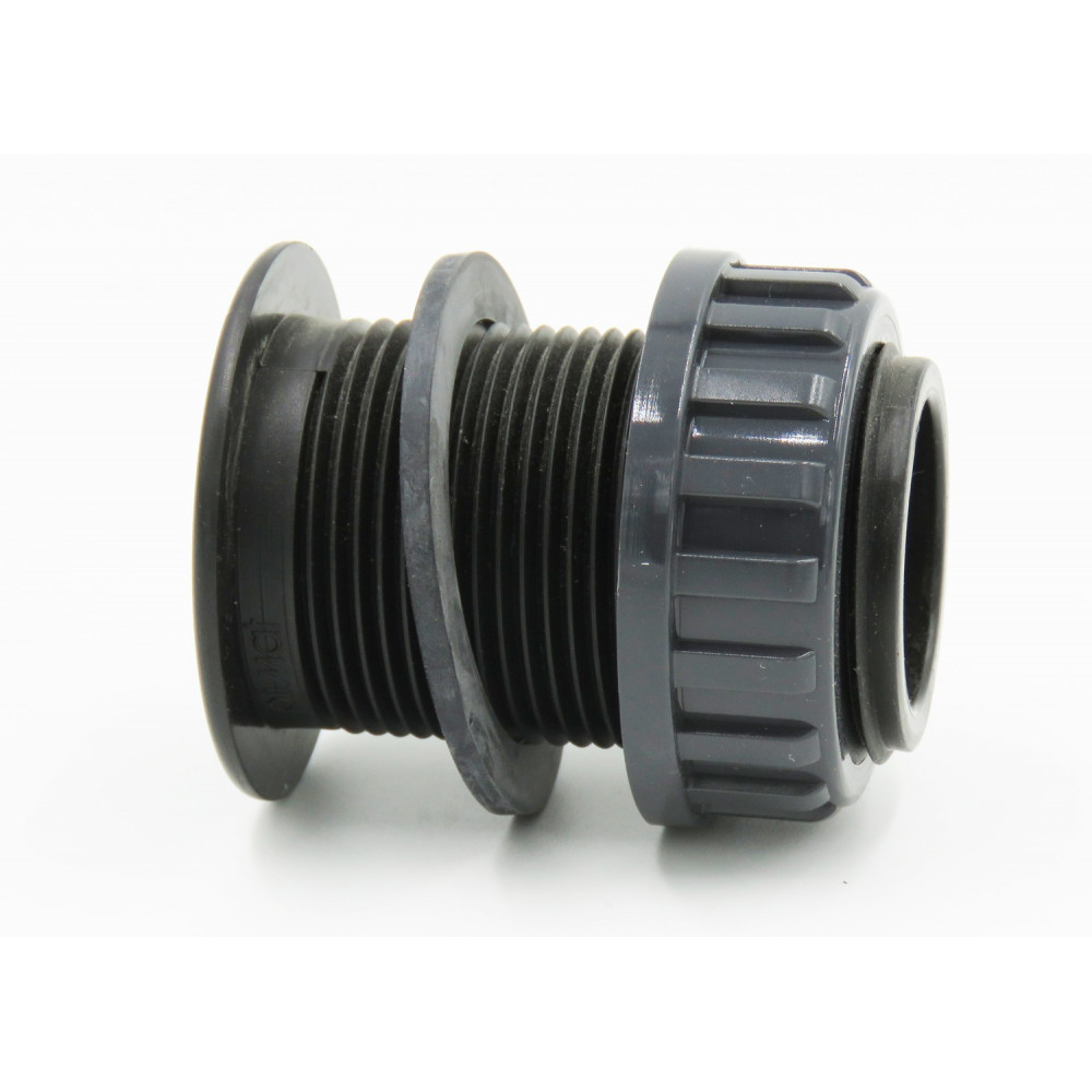 """Plimat SO-ASE2PP 2"""" PVC wall feed-through for female threaded connection PVC wall feed-through"""
