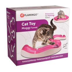 Flamingo Tunnel MOGGY jeu pour chat ø 38.5 cm x 7 cm x 7.7 cm. rose. FL-560848 Jeux