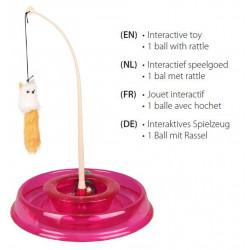 Flamingo FL-560849 Round TIBO cat toy circuit ø 27.5 cm x 38 cm. pink Games