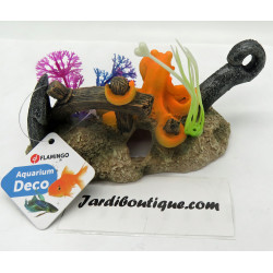 Flamingo LETO ancre + octopus. 16 x 8 x 9 cm. décoration pour aquarium. FL-410212 Décoration et autre
