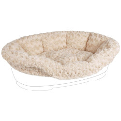 Flamingo Pet Products Cover CUDDLY, for DOMUS bed. 80/90 cm. beige. for dog. Panier plastique chien