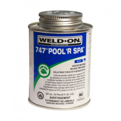 colle bleue pour tuyauterie PVC, IPS pot de 237 grammes Plomberie WELD-ON SC-IPS-560-0004