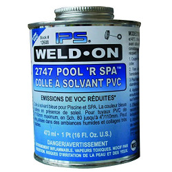 WELD-ON Colle bleue tuyauterie PVC, IPS pot de 500 gr - 473 ML SC-IPS-560-0005 Plomberie