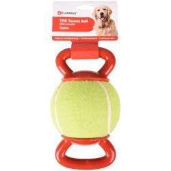 FL-518650 Flamingo pelota de tenis con 2 asas ø 13 cm para perros Jeux