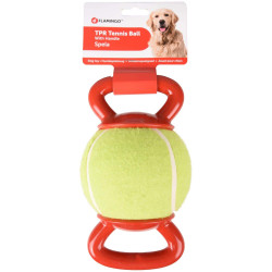 tennis ball with 2 handles...