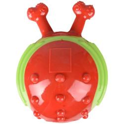 Balle forme escargot rouge-vert ø13 cm pour chien Jouet Flamingo FL-518654