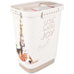 FL-518985 Flamingo Boite stockage 10 Litres june pour nourriture chien. 18 x 24 x 32 cm. BOITE POUR NOURRITURE