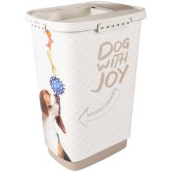 Boite stockage 25 Litres june pour nourriture chien Boite rangement nourriture Flamingo FL-518986