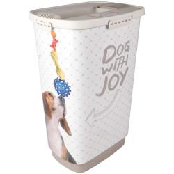 Boite stockage 50 Litres June nourriture pour chien Boite rangement nourriture Flamingo FL-518987