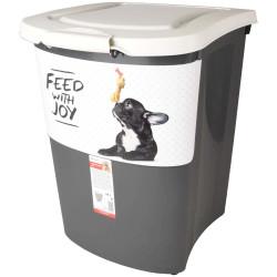 Boite stockage 38 Litres nourriture pour chien Boite rangement nourriture Flamingo FL-518989