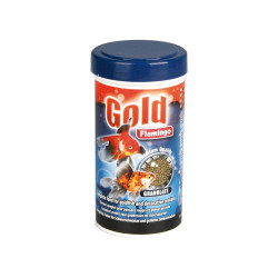 Gold granulated goldfish...