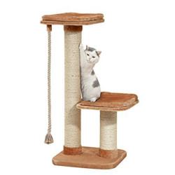 FL-5334202 Flamingo arbre a chat, taille 56 par 56 cm, hauteur 122 cm, Griffoir pour grand chat. Arbre a chat, griffoir