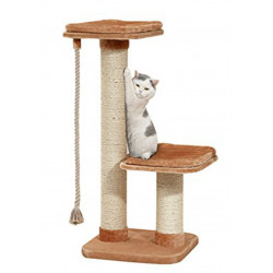 Flamingo FL-5334202 cat tree, size 56 by 56 cm, height 122 cm, claw for big cat. Arbre a chat, griffoir