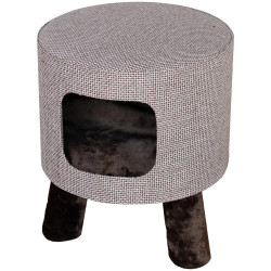Flamingo Pet Products Omar brown cat stool M ø 42 cm H 48 cm Sleeping