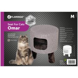 Flamingo Pet Products Stool M ø 42 cm H 48 cm Omar brown for cat Sleeping