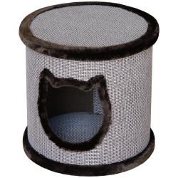 Flamingo Pet Products Barrel shelter ø 42 x 40 cm Omar brown for cat Sleeping