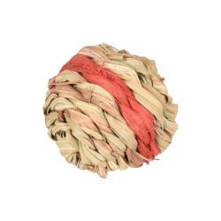 1 Balle d'osier rouge avec clochette pour rongeur Jeux, jouets, activités Flamingo FL-210162D