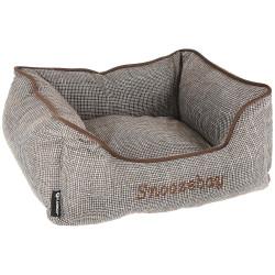 Flamingo Pet Products Snoozebay Rectangular Brown Basket 50 x 40 x 18 cm - DOG Dodo
