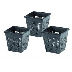 BP-57078286-X3 OASE Set de 3 cestas, tamaño 11 x 11 x 11 cm, para piscina acuática Lavabo de la cesta