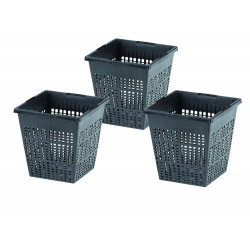 OASE BP-57078286-X3 Set of 3 Baskets, size 11 x 11 x 11 cm, for aquatic pool Basket basin