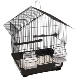 Flamingo FL-110215 Cage for canaries, Lombok, black color, size 36.5 cm by 25 cm and 38 cm, for birds Cages, aviaries, nest b...