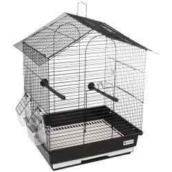 Cage pour perruche Nusa noir 35 x 28 x 46 cm. pour oiseaux Cages, volières, nichoir Flamingo FL-110217