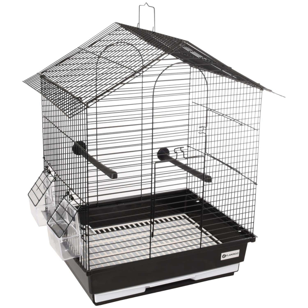 Flamingo Pet Products Cage for parakeet Nusa black 35 x 28 x 46 cm. for birds Cages, aviaries, nest boxes