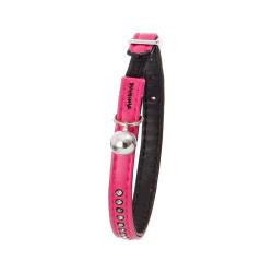 Flamingo Collier taille 30 cm x 11 mm. couleur rose . avec strass et clochette. pour chat FL-64545 Collier, laisse, harnais
