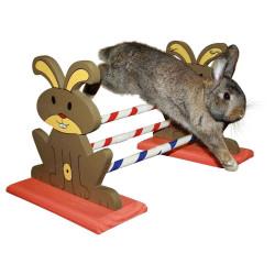 kerbl Agility Kaninhop Hindernis, für Nagetiere und Kaninchen, Größe: 62 cm x 33 cm und 34 cm KE-82855 Spiele, Spielzeug, Akt...