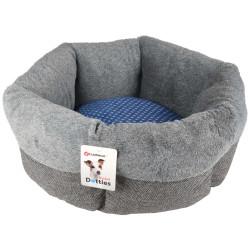 Flamingo FL-519433 DOTTIES basket ø 53 x 18 cm grey blue for cats Sleeping