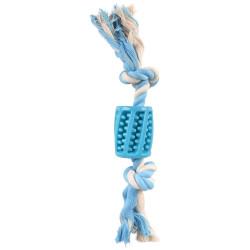 FL-519496 Flamingo Manguera de juguete + cuerda azul 30 cm, Lindo TPR, para perro Jeux