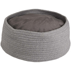 Flamingo FL-560828 Basket + round cushion Hebe. ø 33 x 15 cm. grey colour. for cats. Sleeping
