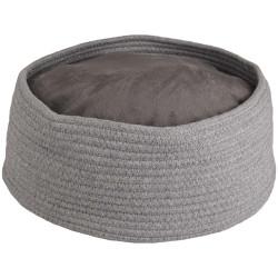 Panier + coussin rond Hebe. ø 33 x 15 cm. couleur gris. pour chat. Couchage Flamingo FL-560828