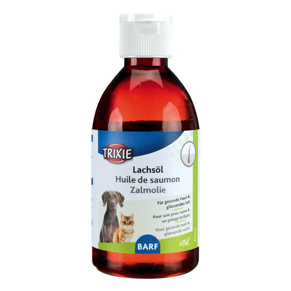 Huile de saumon 250 ml pour chat et chien Complément alimentaire Trixie TR-2993