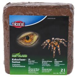 2 Litres Fibres de noix de coco compressé reptiles et amphibiens Substrats Trixie TR-76152