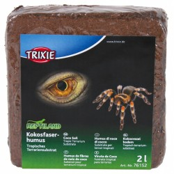 2 litros Répteis e anfíbios de fibra de coco comprimida TR-76152 Substratos