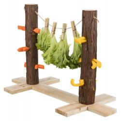 TR-61198 Trixie Dúo de tronco de árbol para la comida. 53 x 34 x 25 cm. para conejos. Tazones, distribuidores