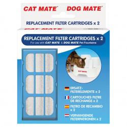 pet-mate Cartouches filtre de rechange Réf 339: pour Fontaine Cat mate (2 pièces) KE-80851-339 Fontaine
