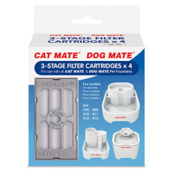 pet-mate Filter cartridges for Fontaine CAT MATE, 3-stage cartridges: (4 pieces). Fountain