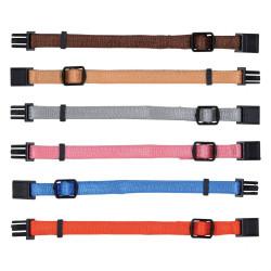 Trixie 6 colliers S-M 17 à 25 cm x 10 mm pour chiot. assortiment de couleurs TR-15552 Collier