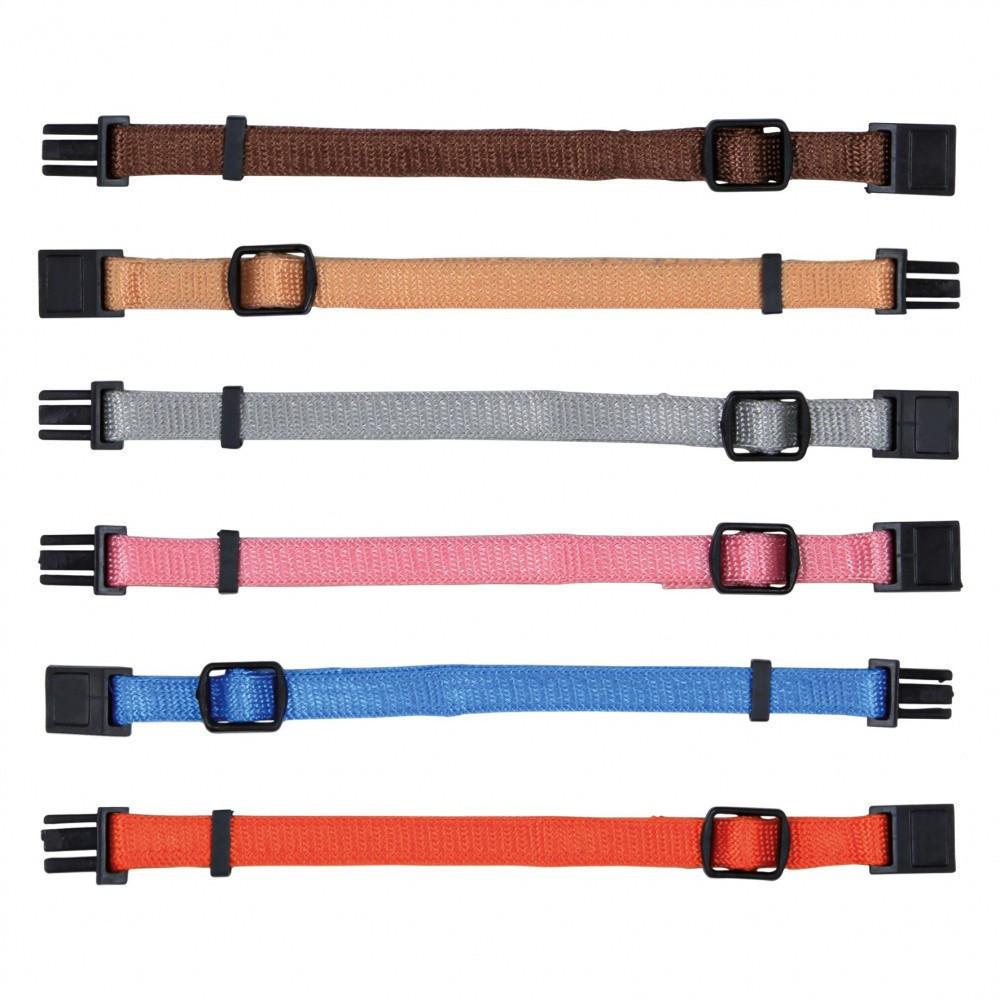 6 colliers S-M 17 à 25 cm x 10 mm pour chiot. assortiment de couleurs Collier Trixie TR-15552