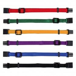 TR-15555 Trixie 6 colliers M-L 22 à 35 cm x 10 mmpour chiot. couleurs différentes Collar